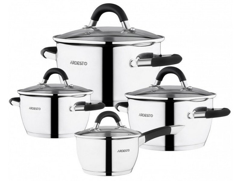 Набор посуды Ardesto Gemini со сливом, 8 предметов (AR1908GS) фото