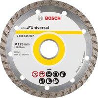 Алмазный отрезной диск Bosch ECO универсальный Turbo 125-22.23