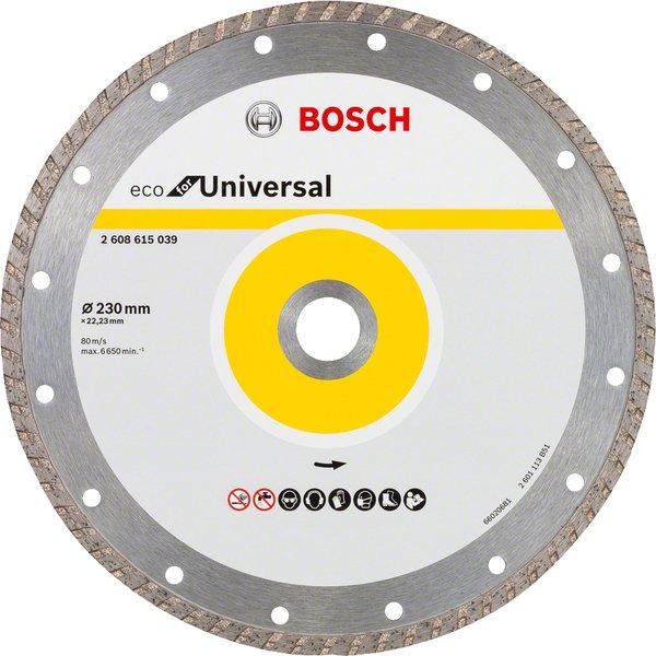 bosch Алмазный отрезной диск Bosch ECO универсальный Turbo 230-22.23 2608615039