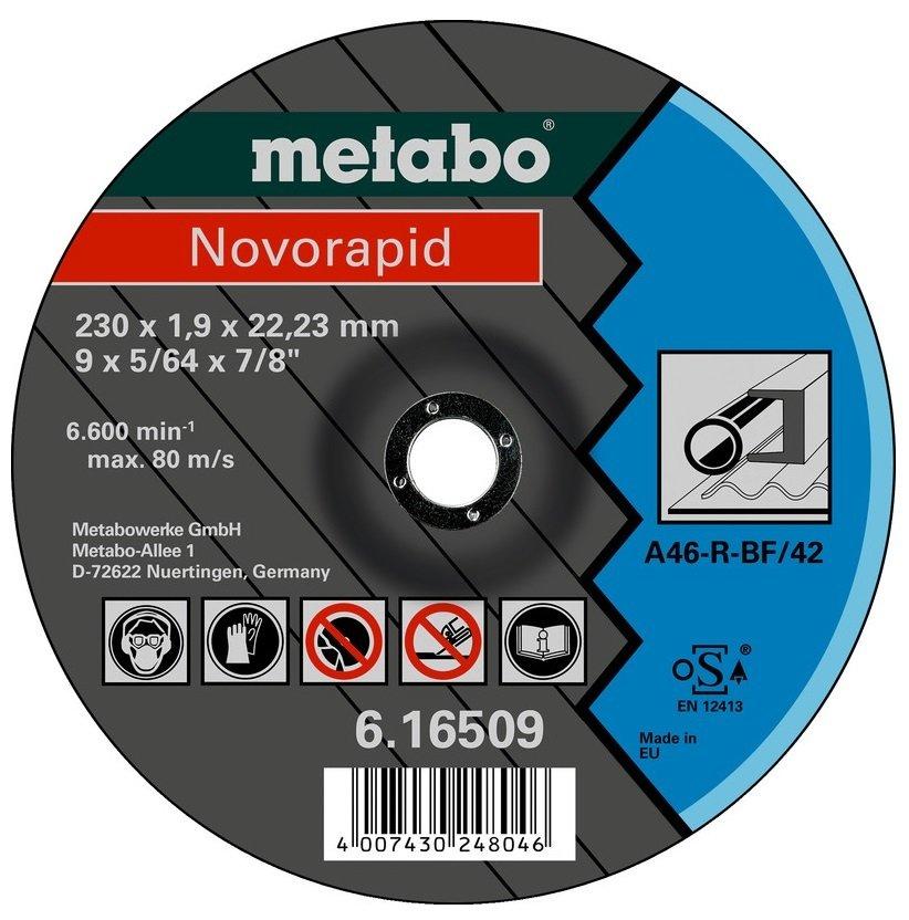 Круг отрезной Metabo Novorapid 230x1,9x22,23 сталь, TF 42 фото
