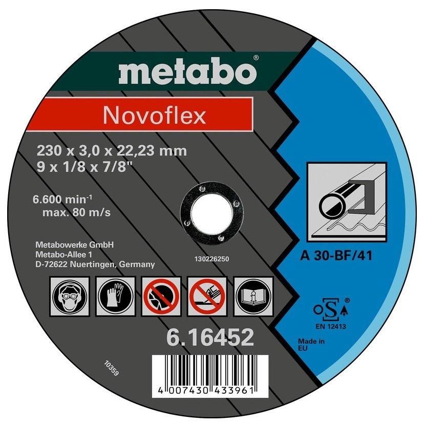 Круг отрезной Metabo Novoflex 230x3,0x22,23 сталь, TF 41 фото