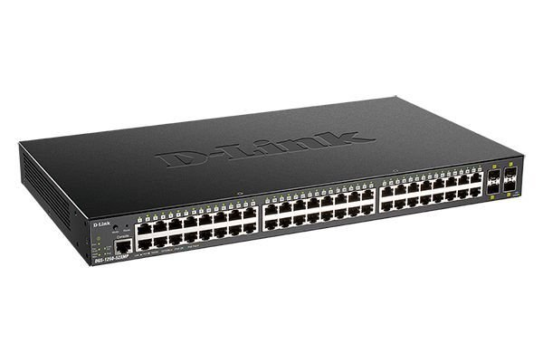 Купить Коммутаторы настраиваемые (Smart), Коммутатор D-Link DGS-1250-52XMP