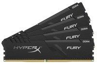 Память для ПК HyperX DDR4-3200 64GB PC4-25600 1Rx8 (Kit of 4x16384) Fury Black (HX432C16FB4K4/64)