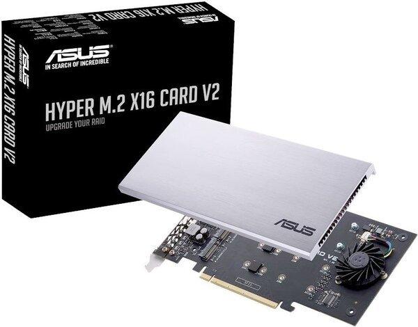 asus Плата-адаптер PCIe ASUS Hyper M.2 X16 PCIe 3.0 X4 Expansion Card V2 (90MC06P0-M0EAY0)