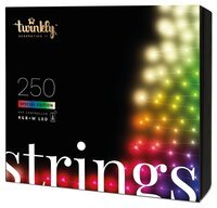 Smart LED Гирлянда Twinkly Strings RGBW 250, BT+WiFi, Gen II, IP44, кабель прозрачный (TWS250SPP-TEU)