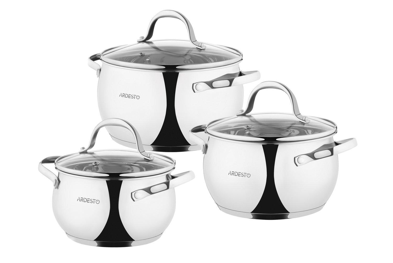 Набір посуду Ardesto Gemini, 6 предметів (AR1906GSS) фото