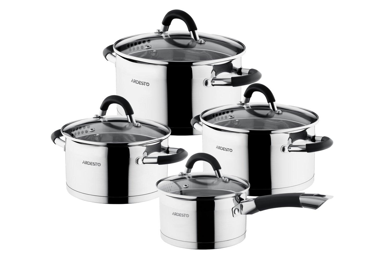 Набір посуду Ardesto Gemini зі зливом, 8 предметів (AR1908GGS) фото