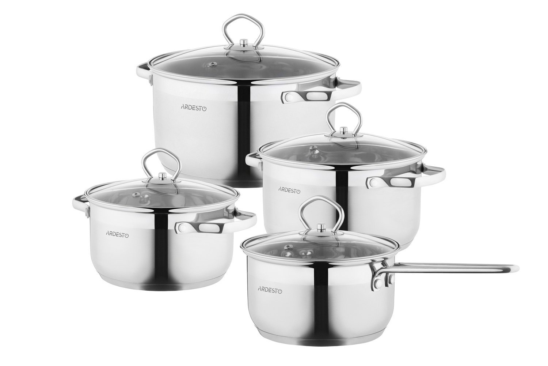 Набор посуды Ardesto Gemini, 8 предметов (AR1908GSS) фото