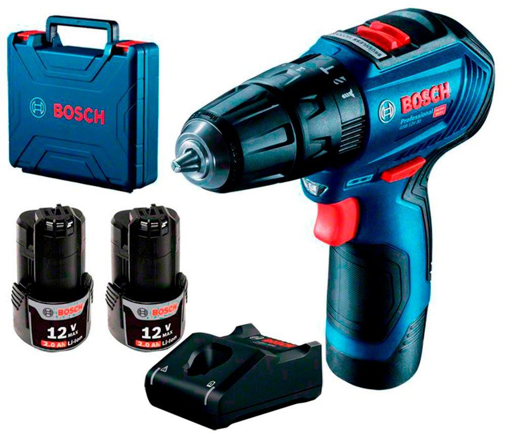 Акумуляторний дриль-шуруповерт Bosch Professional GSB 12V-30 ударна фото1