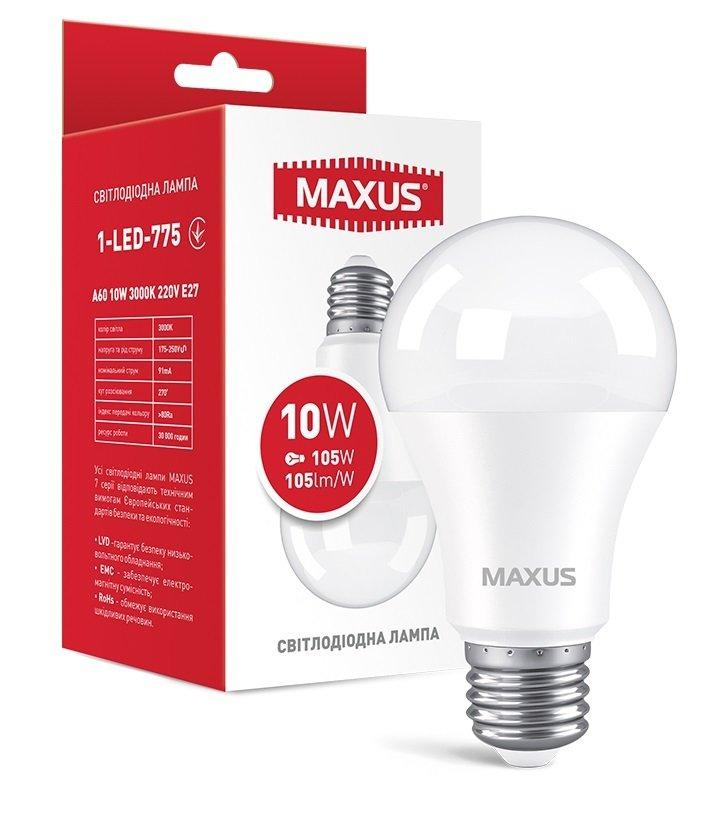 Светодиодная лампа MAXUS A60 12W 3000K 220V E27 AL (1-LED-775) фото