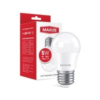 Светодиодная лампа MAXUS G45 5W 3000K 220V E27 (1-LED-741)