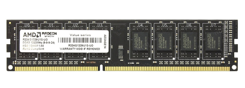 Пам'ять для ПК AMD DDR3 1333 4GB 1.5V (R334G1339U1S-U) фото1