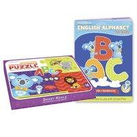 """Пазл інтерактивний Smart Koala""""ABC""""+Книга Інтерактивна Smart Koala Англійський алфавіт (SKABC_EA)"""