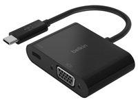 Адаптер Belkin USB-C - VGA 60W PD, black
