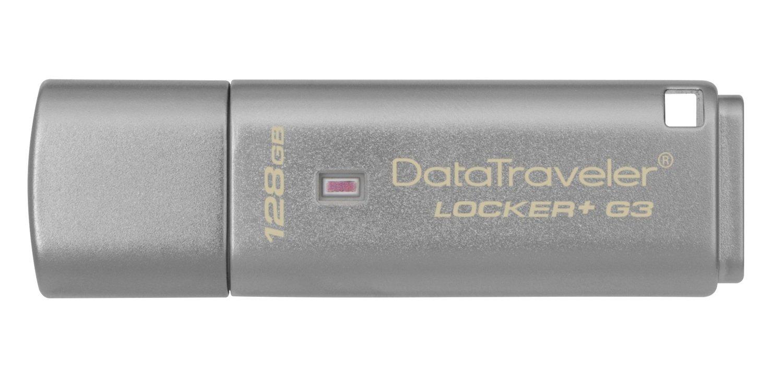 Накопичувач USB 3.0 KINGSTON DT Locker+G3 128GB (DTLPG3/128GB) фото1