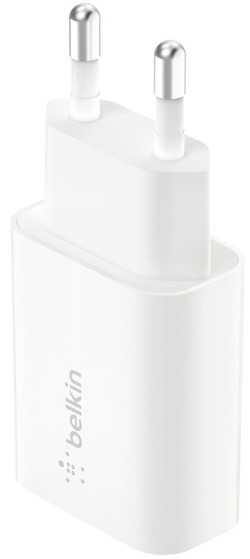 Сетевое ЗУ Belkin (18W) USB-A 3A QC3, white фото