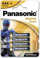 Батарейка Panasonic ALKALINE POWER AAA 4 шт. Power Rangers (LR03REB/4BPRPR)