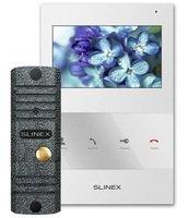 Комплект видеодомофона Slinex SQ-04 White + Панель ML-16HD Grey Antiq