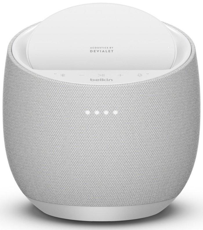 Смарт спикер Belkin + беспроводная зарядка Devialet Soundform Elite, white фото 1