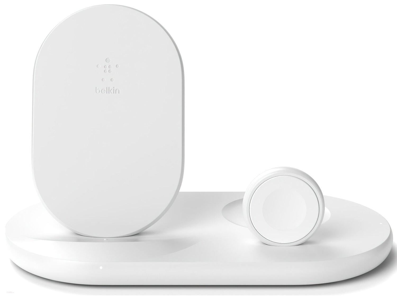 Бездротове зарядний пристрій Belkin 3-in-1 Wireless Pad/Stand/Apple Watch, white фото