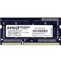 Пам'ять для ноутбука AMD DDR3 1600 2GB 1.5V SO-DIMM (R532G1601S1S-U)