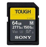 Карта памяти Sony 64GB SDXC C10 UHS-II U3 V60 R277/W150MB/s Tough