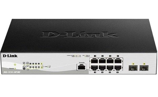 Купить Коммутаторы настраиваемые (Smart), Коммутатор D-Link DGS-1210-10P/ME/B