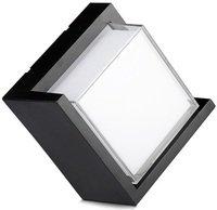 Светильник уличный LED V-TAC, 12W, SKU-8540 LED Wall Light IP65 Sami-Frame Black Square 4000K