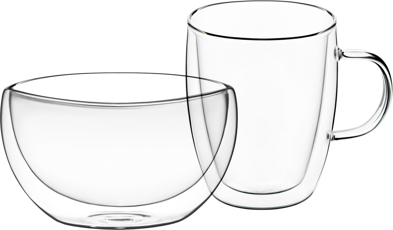 Набор для завтрака Ardesto, чашка 270 мл и пиала 500 мл фото 1