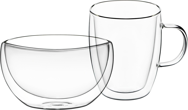 Набор для завтрака Ardesto, чашка 270 мл и пиала 500 мл фото