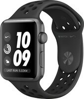 Смарт-часы Apple Watch Nike+ Series 3 GPS 38mm Space Grey Aluminium Case with Anthracite/Black Nike Sport Band (MTF12FS/
