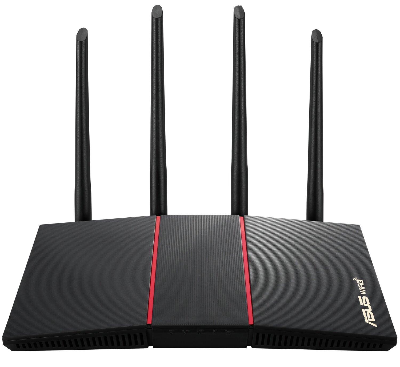 Маршрутизатор ASUS RT-AX55 AX1800 4xGE LAN 1xGE WAN WiFi6 AIMESH MU -MIMO OFDMA фото1