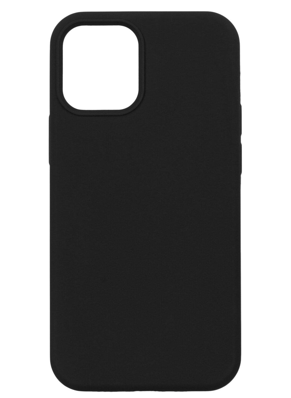 Чехол 2Е для iPhone 12 mini Liquid Silicone Black (2E-IPH-12-OCLS-BK) фото 1