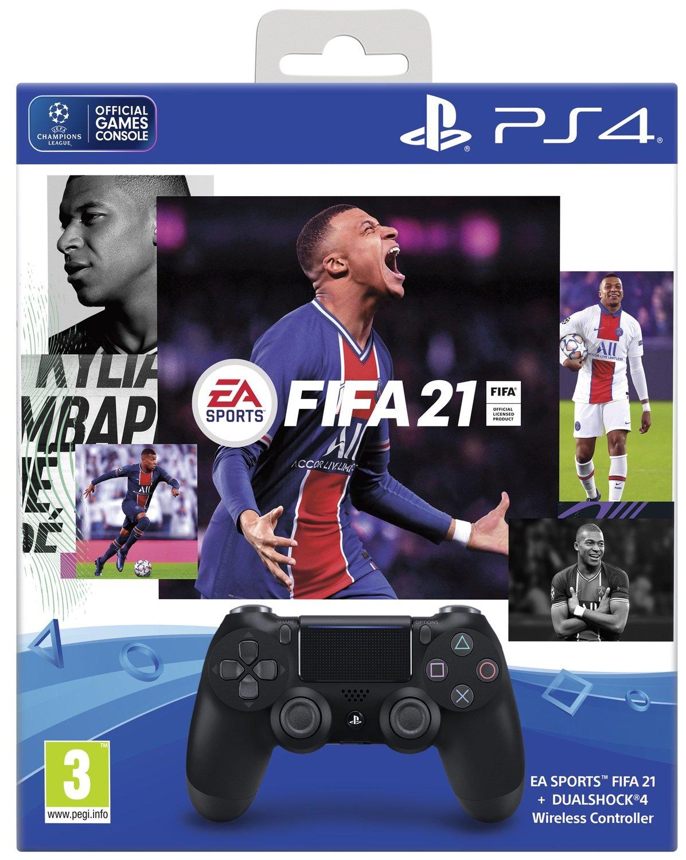 Беспроводной геймпад SONY Dualshock 4 V2 Jet Black для PS4 (FIFA 21+PSPlus 14 дней) (9835325) фото 1