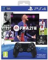 Бездротовий геймпад SONY Dualshock 4 V2 Jet Black для PS4 (FIFA 21+PSPlus 14 днів) (9835325)
