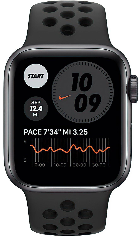 Смарт-годинник Apple Watch Nike SE GPS 40mm Space Gray Aluminium Case with Anthracite/Black Nike Sport Band Regular фото