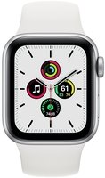 Смарт-годинник Apple Watch SE GPS 40mm Silver Aluminium Case with White Sport Band Regular