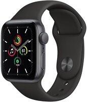 Смарт-часы Apple Watch SE GPS 40mm Space Gray Aluminium Case with Black Sport Band Regular