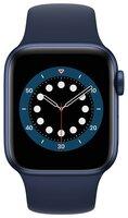 Смарт-часы Apple Watch Series 6 GPS 40mm Blue Aluminium Case with Deep Navy Sport Band Regular