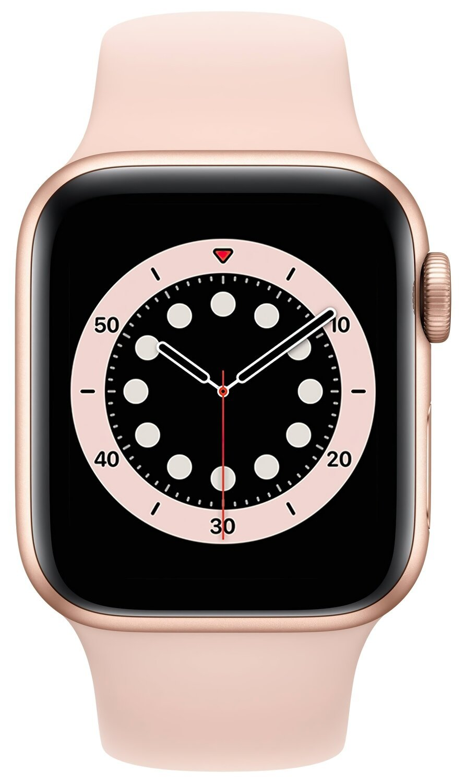 Смарт-годинник Apple Watch Series 6 GPS 40mm Gold Aluminium Case with Pink Sand Sport Band Regular фото