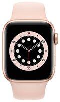 Смарт-часы Apple Watch Series 6 GPS 40mm Gold Aluminium Case with Pink Sand Sport Band Regular