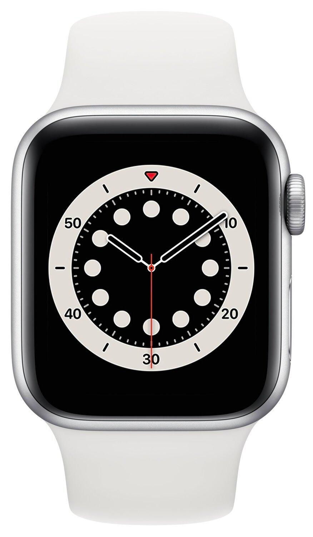 Смарт-часы Apple Watch Series 6 GPS 40mm Silver Aluminium Case with White Sport Band Regular фото