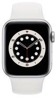 Смарт-часы Apple Watch Series 6 GPS 40mm Silver Aluminium Case with White Sport Band Regular