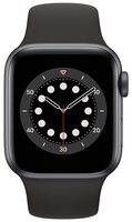 Смарт-часы Apple Watch Series 6 GPS 40mm Space Gray Aluminium Case with Black Sport Band Regular