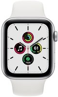 Смарт-часы Apple Watch SE GPS 44mm Silver Aluminium Case with White Sport Band Regular