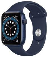 Смарт-часы Apple Watch Series 6 GPS 44mm Blue Aluminium Case with Deep Navy Sport Band Regular
