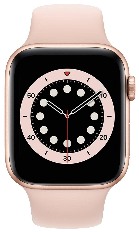 Смарт-часы Apple Watch Series 6 GPS 44mm Gold Aluminium Case with Pink Sand Sport Band Regular фото