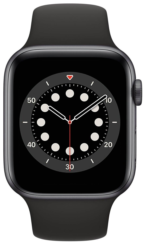 Смарт-годинник Apple Watch Series 6 GPS 44mm Space Gray Aluminium Case with Black Sport Band Regular фото