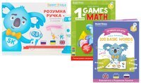Стартовый набор Smart Koala + Книга Интерактивная Smart Koala English (1 сезон) + Игры математики 1 сезон