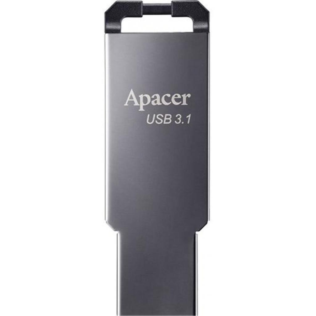 Накопичувач USB 3.1 Apacer 16GB AH360 Ashy (AP16GAH360A-1) фото1